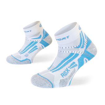 Socquettes de running RSX EVO blanc/bleu