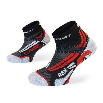 Socquettes de running RSX EVO noir/rouge