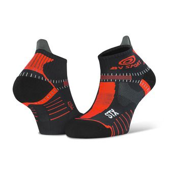 Bv Sport STX EVO - Chaussettes noir/rouge