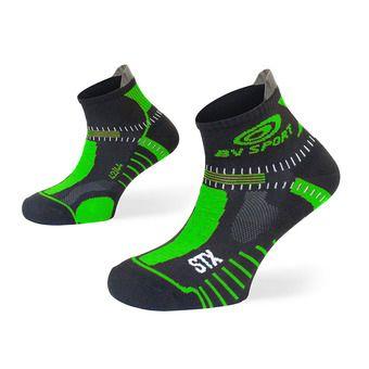 Socquettes de trail STX EVO noir/vert
