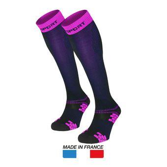 Chaussettes de compression femme XLR EVO bleu/rose