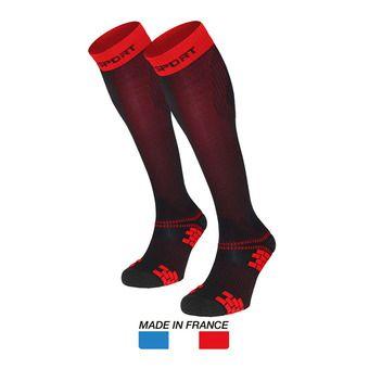 Calcetines de compresión XLR EVO negro/rojo