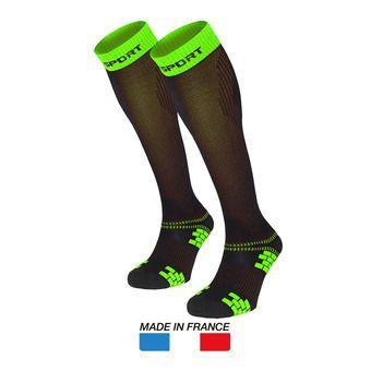 Calcetines de compresión XLR EVO negro/verde