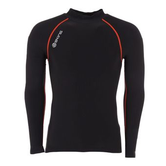 Maillot 1/2 zip ML homme DNAMIC THERMAL black/red