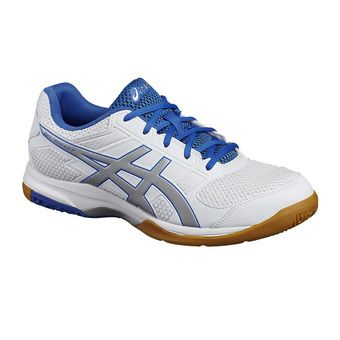 Zapatillas de voleibol hombre GEL-ROCKET 8 white/silver/classic blue