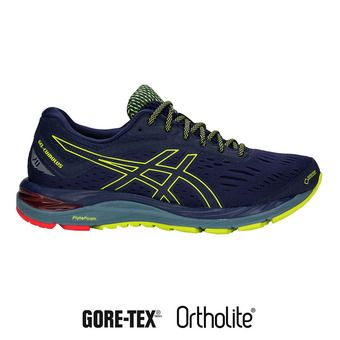 Chaussures running homme GEL-CUMULUS 20 G-TX peacoat/neon lime