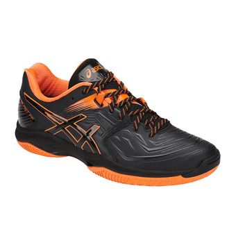Asics BLAST FF - Handball Shoes - Men's - black/shocking orange