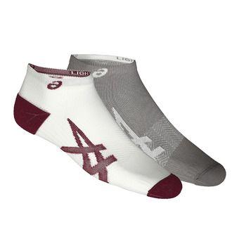 Pack de 2 pares de calcetines LIGHTWEIGHT carbon/white