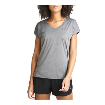 Asics CAPSLEEVE - Maillot Femme dark grey heather