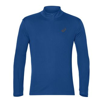 Maillot ML 1/4 zippé homme SILVER race blue