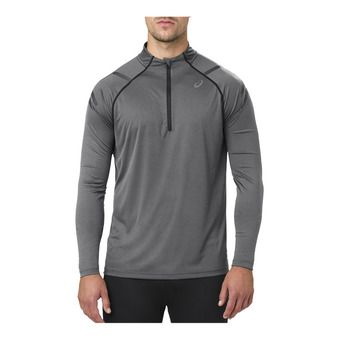 Maillot ML 1/4 zippé homme ICON dark grey heather/performance black