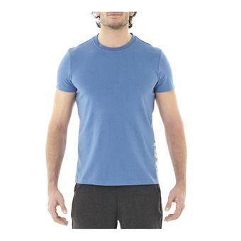 Asics ESSENTIAL DBL - Camiseta hombre azure/mid grey