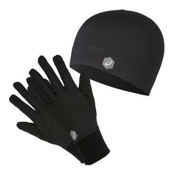 Gants + Bonnet RUNNING PACK performance black
