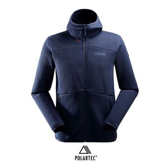 Veste polaire à capuche Polartec® homme MISSION 2.0 dark night