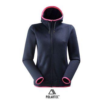 Polaire zippée à capuche femme MISSION 2.0 dark night