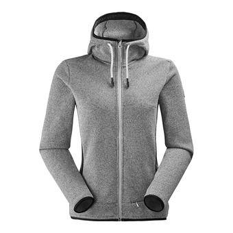 Polaire zippée à capuche femme ASTER 2.0 misty grey
