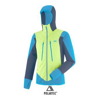 Veste à capuche EXTREME RUTOR ALPHA COMPO acid green/teal blue