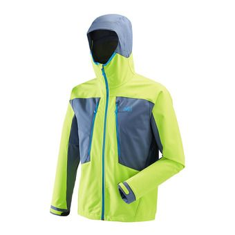 Chaqueta hombre TOURING SHIELD acid green/teal blue