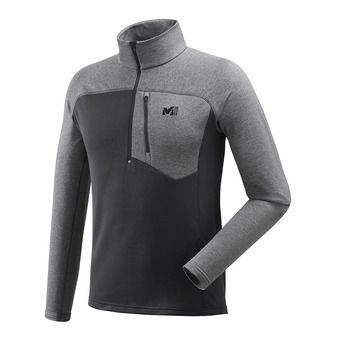 Polaire 1/2 zip homme TECHNOSTRETCH black/tarmac