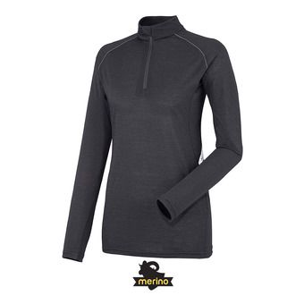 Camiseta térmica mujer C WOOL BLEND 150 black