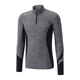Mizuno VIRTUAL BODY G2 H/Z - Camiseta térmica hombre heathergrey/black