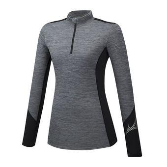 Mizuno VIRTUAL BODY G2 H/Z - Camiseta térmica mujer heathergrey/black