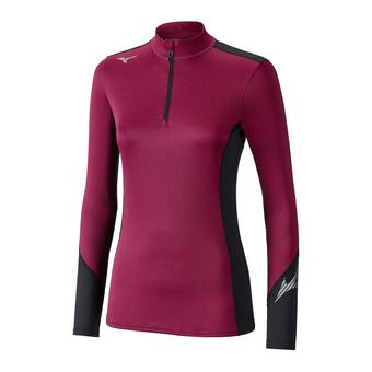 Camiseta térmica mujer VIRTUAL BODY G2 HZ beet red/black