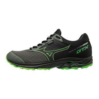 Mizuno WAVE RIDER GTX - Chaussures running Homme gunmetal/black/green slime