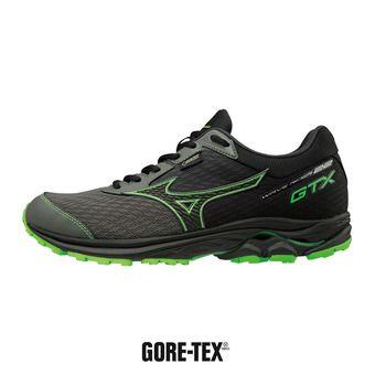 Mizuno WAVE RIDER GTX - Zapatillas de running hombre gunmetal/black/green slime