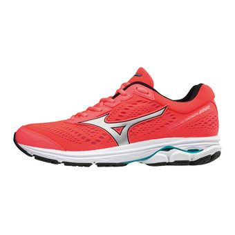 Chaussures de running femme WAVE RIDER 22 fiery coral/silver/peacock blue