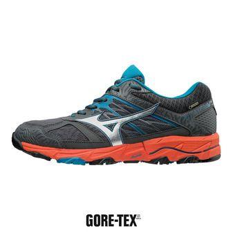 Zapatillas de trail hombre WAVE MUJIN 5 GTX dark shadow/silver/cherry tomato