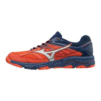 Chaussures de trail homme WAVE MUJIN 5 cherry tomato/silver/estate blue