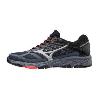 Zapatillas de trail mujer WAVE MUJIN 5 ombre blue/silver/hot coral