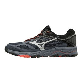 Mizuno WAVE MUJIN 5 - Chaussures trail Femme ombre blue/silver/hot coral