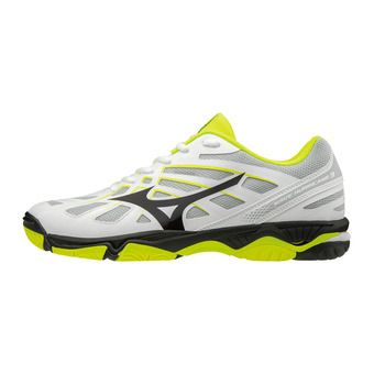 Mizuno WAVE HURRICANE 3 - Chaussures hand Homme white/black/safety yellow