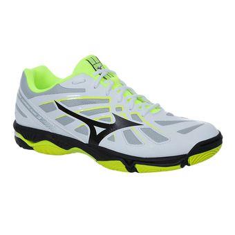 Mizuno WAVE HURRICANE 3 - Chaussures hand Homme white/black/safety yellow