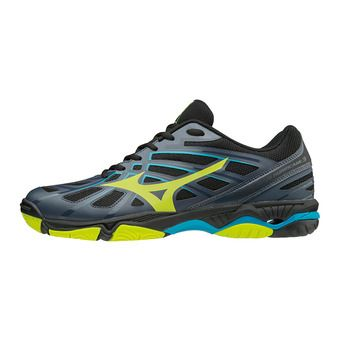 Chaussures homme WAVE HURRICANE 3 ombre blue/safety yellow/black