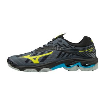 Mizuno WAVE LIGHTNING Z4 - Chaussures volley Homme ombre blue/safety yellow/black