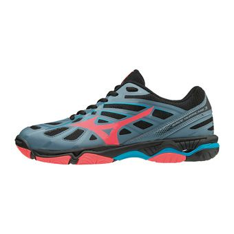 Zapatillas mujer WAVE HURRICANE 3 blue mirage/fiery coral/black