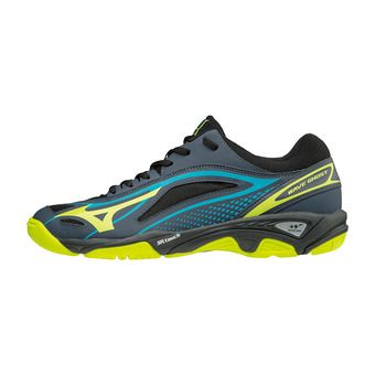 Chaussures homme WAVE GHOST ombre blue/safety yellow/black