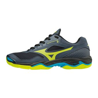 Mizuno WAVE PHANTOM 2 - Zapatillas de balonmano hombre ombre blue/safety yellow/black