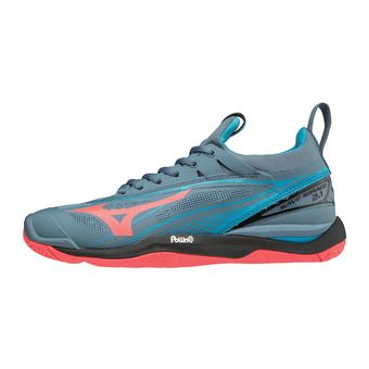 Mizuno WAVE MIRAGE 2.1 - Chaussures hand Femme blue mirage/fiery coral/hawaiian ocean