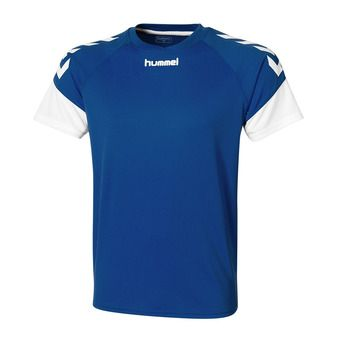 Camiseta hombre CHEVRONS azul rey/blanco