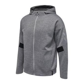 Sweat à capuche zippé homme TECH MOVE gris