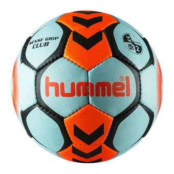 Hummel SENSE GRIP CLUB - Balón de balonmano light blue/orange vif
