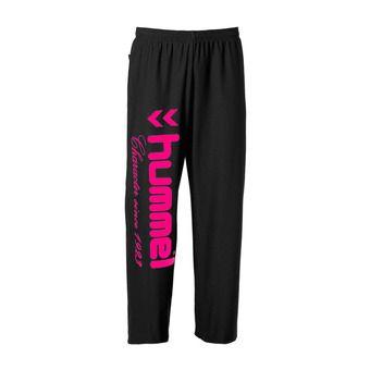 Pantalón de chándal mujer UH negro/rosa flúor