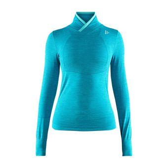 Camiseta térmica mujer BA FUSEKNIT COMFORT WRAP azul jaspeado