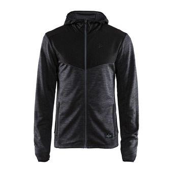 Sweat zippé à capuche homme BREAKAWAY noir chine/noir