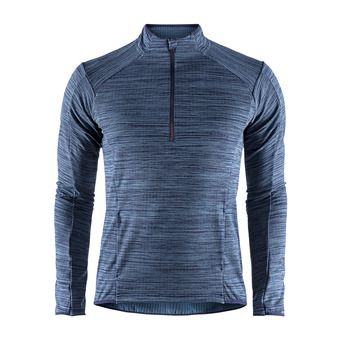 Maillot 1/2 zip ML homme GRID maritime chine