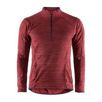Camiseta hombre GRID rojo jaspeado